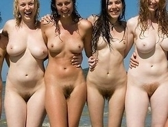 interesting nudist chicks has naked fun at nude beaches